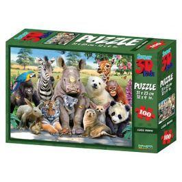 PRIME 3D Puzzle Divočina 3D 63 dílků