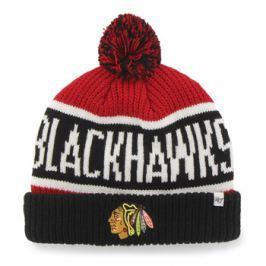 47 Brand Zimní čepice  Calgary Cuff Knit NHL Chicago Blackhawks