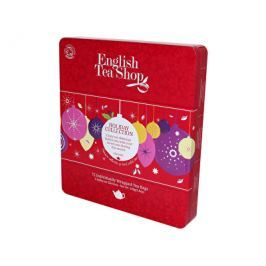 English Tea Shop Plechová kazeta 72 pyramidových sáčků, Červené ozdoby
