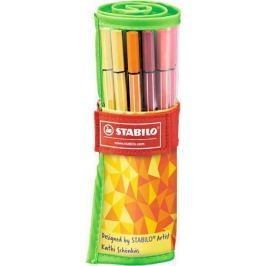 STABILO Fixy Pen 68 Fan Edition, sada, 25 barev, 1 mm,