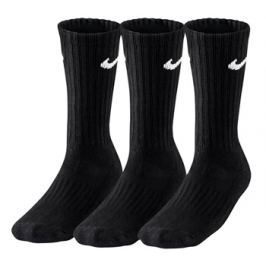 Nike Ponožky  3PPK Value Cotton Crew, S 34-38, 001 Black/White