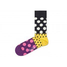 Dot Split 2011 Ponožky Happy Socks | Černá Žlutá Fialová | Dámské | 36-40