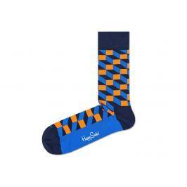 Filled Optic 2008 Ponožky Happy Socks   Modrá Oranžová   Pánské   41-46