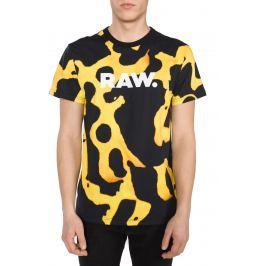 Fian Triko G-Star RAW | Černá Žlutá | Pánské | S