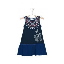Accra Šaty dětské Desigual   Modrá   Dívčí   9-10 let