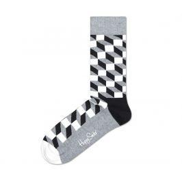 Filled Optic Ponožky Happy Socks   Černá Šedá   Pánské   36-40