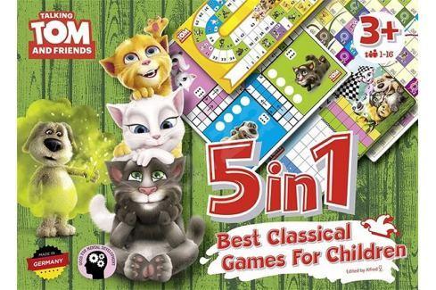 MOS Servis Talking Tom a přátelé/5v1 - Nejlepší klasické hry pro děti Stolní hry