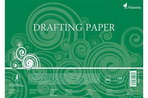 VICTORIA Papír na technické výkresy, čtvrtky, A3, 100 listů, Sešity