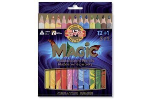 KOH-I-NOOR Multibarevné pastelky Magic 3408, sada různých barev 12+1, trojhranné, KOH-I-N Produkty