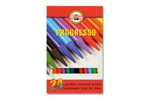 KOH-I-NOOR Barevné pastelky Progresso 8758/24, 24ks, bez dřeva, Produkty