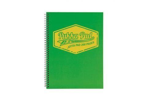 PUKKA PAD Blok Jotta Neon, zelená, A5, linkovaný, 100 listů, spirálová vazba, Sešity