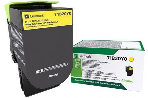 Lexmark CS/CX31/41/51x Yellow Toner Cartridge Return - 2 300 stran Náplně a tonery - originální