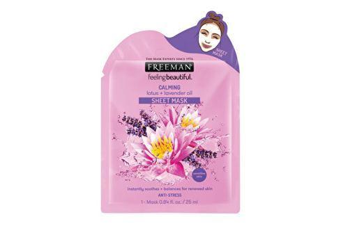Freeman Zklidňující látková maska Lotos a levandulový olej (Calming Sheet Mask) 25 ml Pleťové krémy