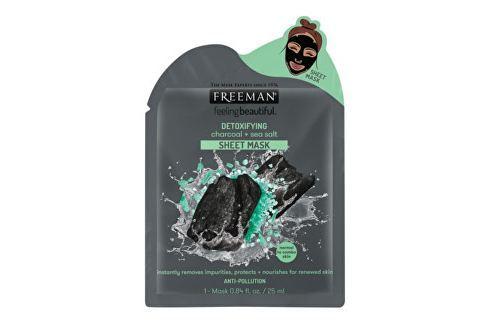 Freeman Detoxikační látková maska Aktivní uhlí a mořská sůl (Detoxifying Sheer Mask) 25 ml Přípravky na čištění pleti