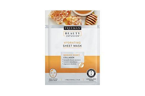 Freeman Hydratační látková maska Manukový med a kolagen Beauty Infusion (Hydrating Sheet Mask) 25 ml Přípravky pro péči o krk a dekolt
