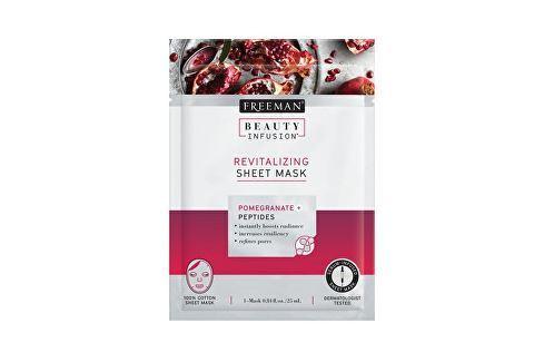 Freeman Revitalizační látková maska Granátové jablko Beauty Infusion (Revitalizing Sheet Mask) 25 ml Přípravky pro péči o krk a dekolt