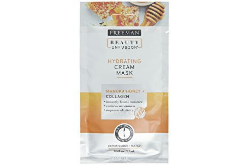 Freeman Hydratační krémová maska Manukový med a kolagen Beauty Infusion (Hydrating Cream Mask) 15 ml Přípravky na čištění pleti