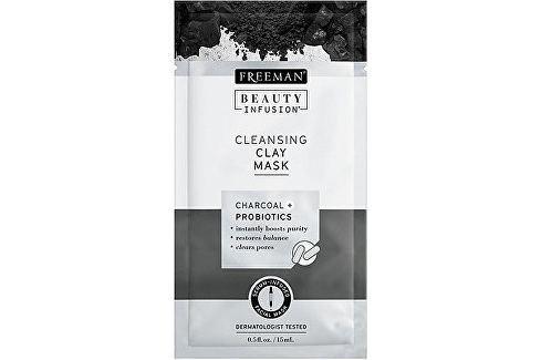 Freeman Čisticí jílová maska Aktivní uhlí a probiotika Beauty Infusion (Cleansing Clay Mask) 15 ml Přípravky pro péči o krk a dekolt