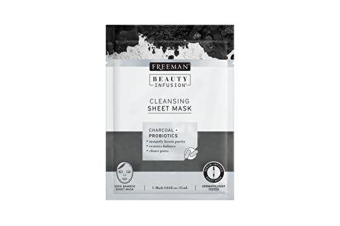 Freeman Čisticí látková maska Aktivní uhlí a probiotika Beauty Infusion (Cleansing Sheet Mask) 25 ml Přípravky na čištění pleti