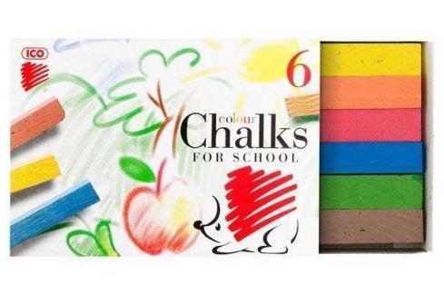 ICO Křídy, 6ks,  Ježek, různé barvy Sady školních pomůcek