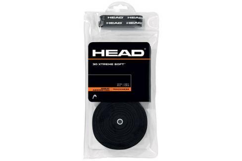 Head Omotávka na rakety vrchní  Xtreme Soft Black (30 ks) Squashové doplňky