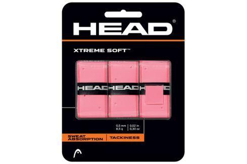 Head Omotávka na rakety vrchní  Xtreme Soft Pink (3 ks) Squashové doplňky