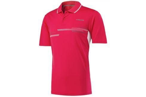 Head Pánské tričko  Club Technical Polo Red, M Oblečení