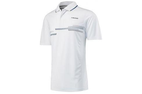 Head Pánské tričko  Club Technical Polo White/Navy, M Oblečení