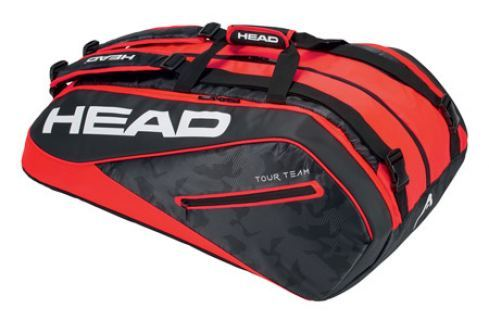 Head Taška na rakety  Tour Team Monstercombi 12R Black/Red Squashové tašky