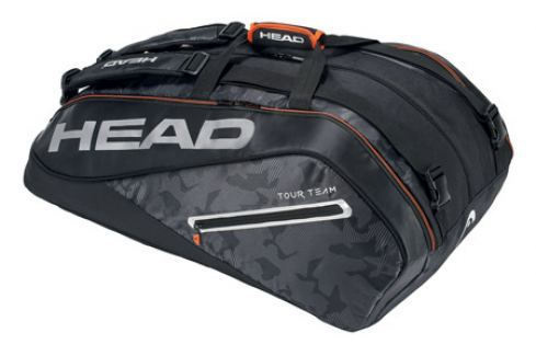 Head Taška na rakety  Tour Team Monstercombi 12R Black/Silver Squashové tašky