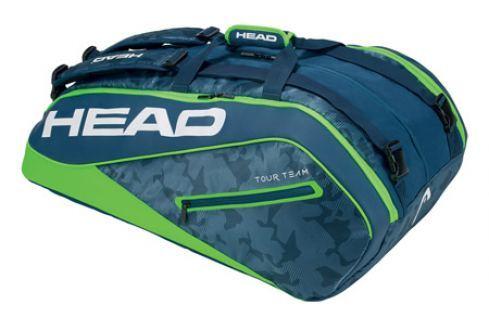 Head Taška na rakety  Tour Team Monstercombi 12R Navy/Green Squashové tašky