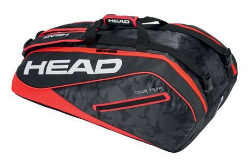 Head Taška na rakety  Tour Team Supercombi 9R Black/Red Squashové tašky