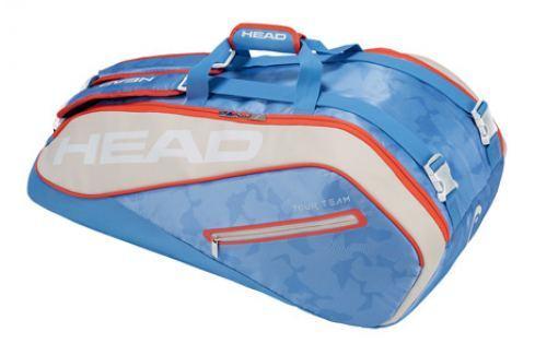 Head Taška na rakety  Tour Team Supercombi 9R Light Blue Squashové tašky