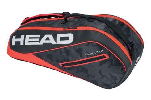 Head Taška na rakety  Tour Team Combi 6R Black/Red Squashové tašky