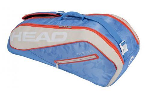 Head Taška na rakety  Tour Team Combi 6R Light Blue Squashové tašky