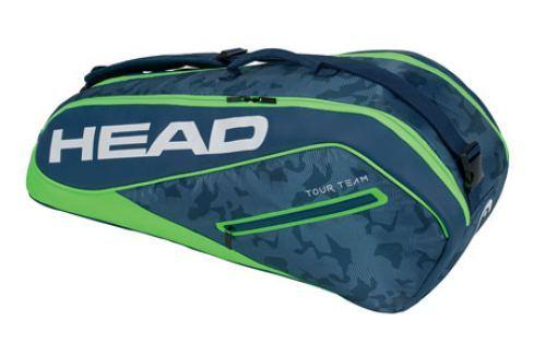 Head Taška na rakety  Tour Team Combi 6R Navy/Green Squashové tašky