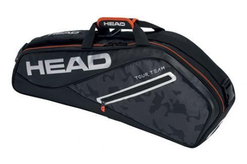 Head Taška na rakety  Tour Team Pro 3R Black/Silver Squashové tašky