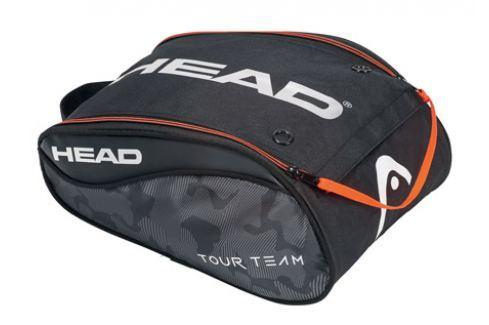 Head Taška na obuv  Tour Team Shoe Bag Black/Silver Squashové tašky