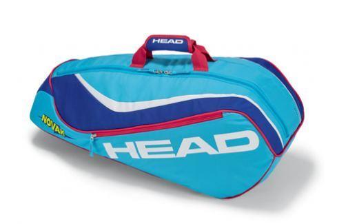 Head Juniorská taška na rakety  Junior Combi Light Blue Squashové tašky