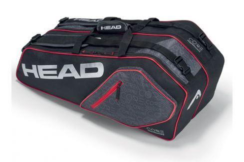 Head Taška na rakety  Core Combi 6R Black/Silver Tenisové tašky