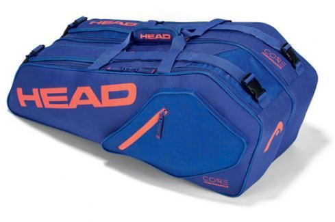 Head Taška na rakety  Core Combi 6R Blue/Salmon Squashové tašky
