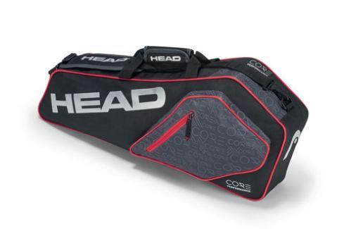 Head Taška na rakety  Core Pro 3R Black/Silver Squashové tašky