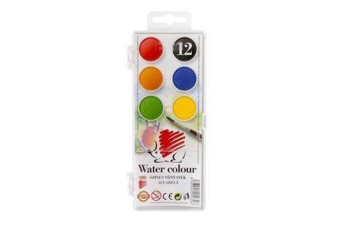 ICO Vodové barvy, 12 pieces, 22,5 mm,  Ježek Temperové a vodové barvy