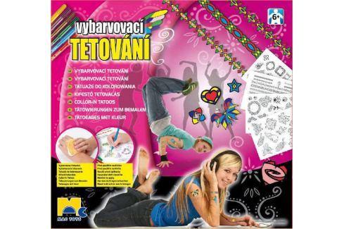 MAC TOYS Vybarvovací tetování pro holky Dětské karnevalové kostýmy