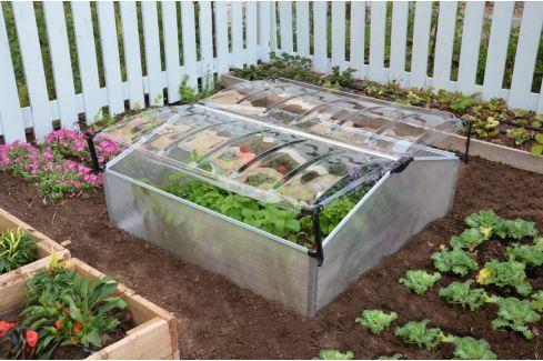 Palram COLD FRAME Double arch polykarbonátové pařeniště dvoukřídlé Zahradní skleníky