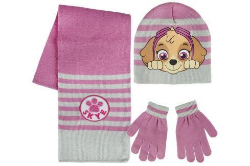 Sada šála, rukavice, čepice - Tlapková Patrola růžová ostatní pomůcky