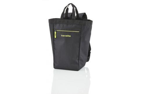 Travelite Shopping Backpack je textilní nákupní batoh a taška v jednom::Royal blue modrá Nákupní tašky a košíky