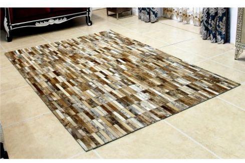 Tempo Kondela Luxusní koberec, kůže, typ patchworku, 120x180 cm, KOBEREC KOŽA typ5 Koberce metráž
