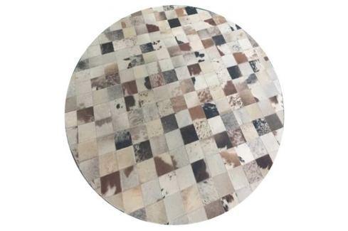 Tempo Kondela Luxusní koberec, kůže, typ patchworku, 150x150 cm, KOBEREC KOŽA typ10 Koberce metráž
