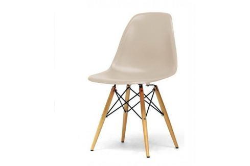 Tempo Kondela Židle, béžová capuccino + buk, CINKLA 2 NEW Židle